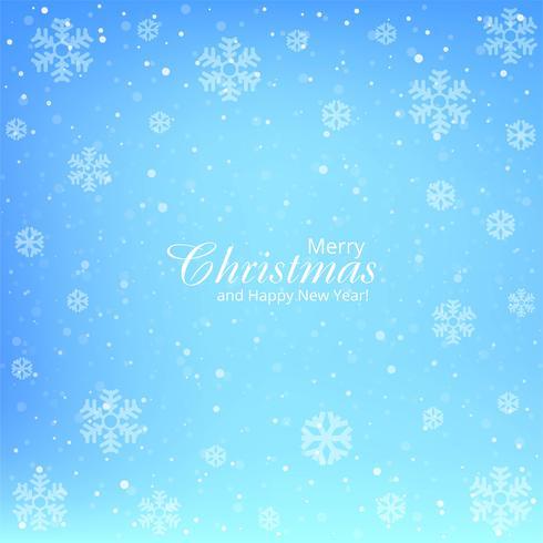 Blauer Hintergrundvektor der Karte der frohen Weihnachten der Schneeflocke