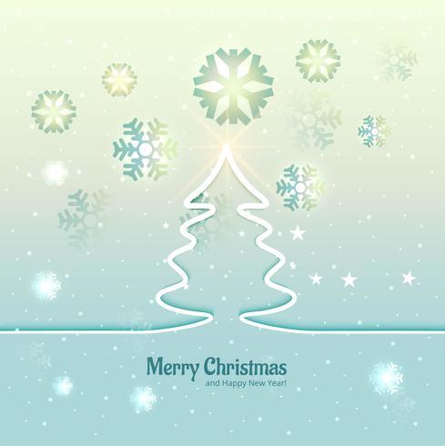 Fröhlicher Weihnachtsbaumfestival-Vektor