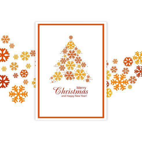 Schneeflocken-Baumdesign IL der schönen Kartenfestival-frohen Weihnachten