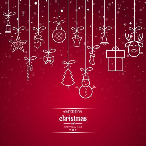 Schöner Grußkartenhintergrund der frohen Weihnachten