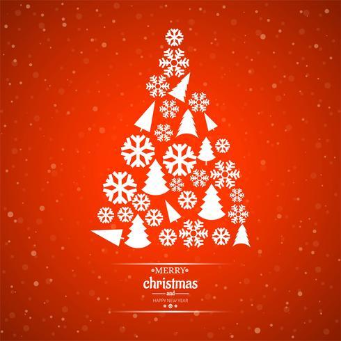 Vacker glatt julkort bakgrund