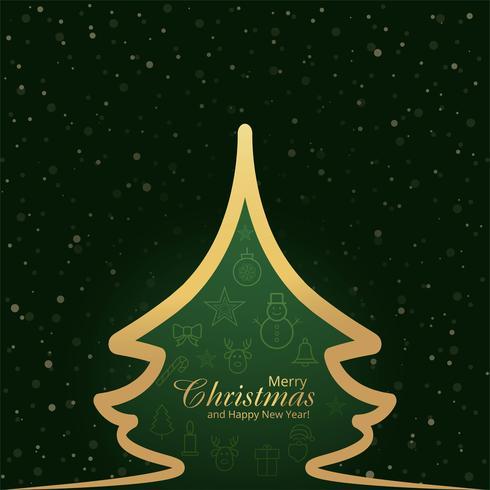 Abstrakt festivalen glatt julkort snöflinga och träd backgr