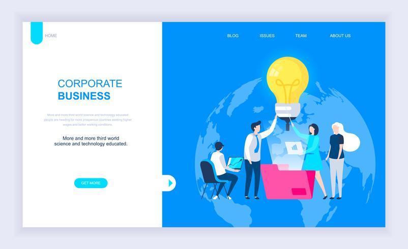 Moderno concepto de diseño plano del negocio corporativo.