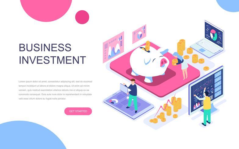Modern planlösning isometrisk koncept för affärsinvesteringar