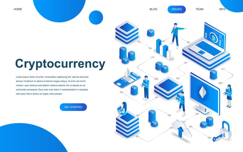 Modern isometric design concept of Cryptocurrency Exchange