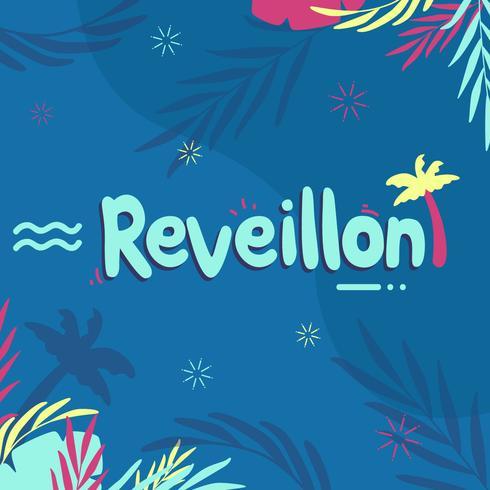 Vector De La Tipografía De Reveillon