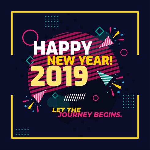 Gott nytt år vektor