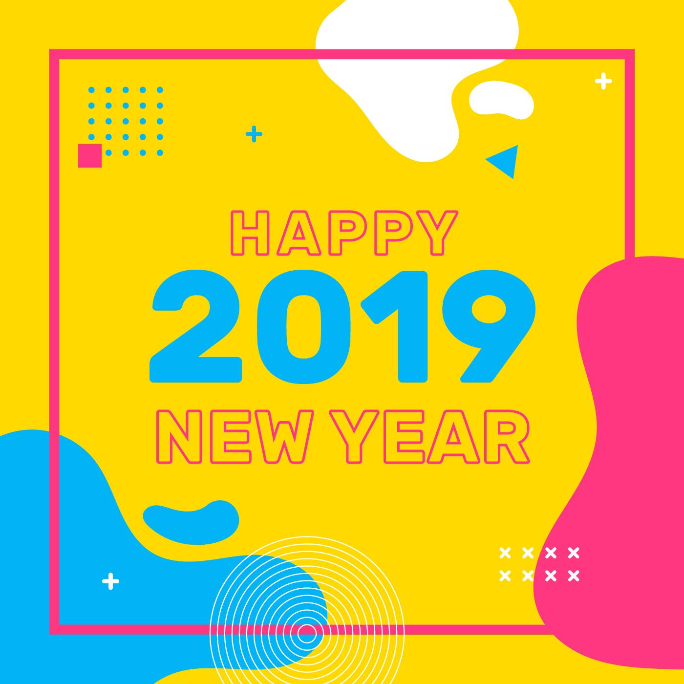 Vector Illustration Instagram: Happy New Year Instagram Post