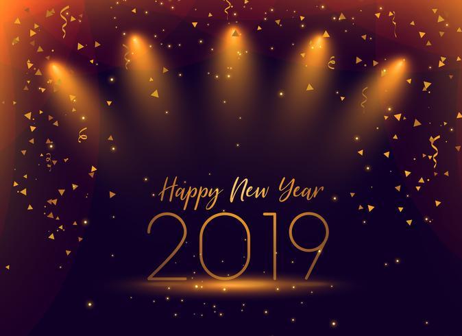 2019 nytt år fest konfetti bakgrund