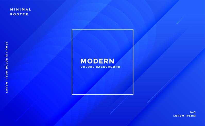 fantastisk blå modern banner designmall