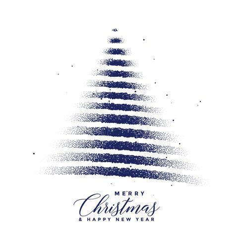 kreativt julgran tillverkad med prickpartiklar