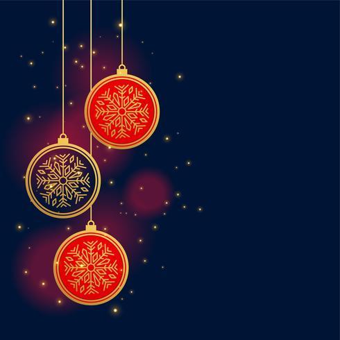 suspendus fond de boules de décoration de Noël