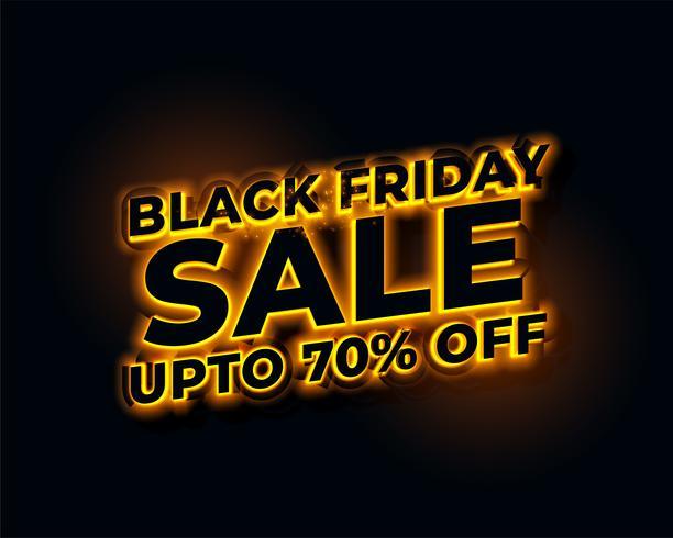 glödande ljus gyllene svart fredag försäljning banner