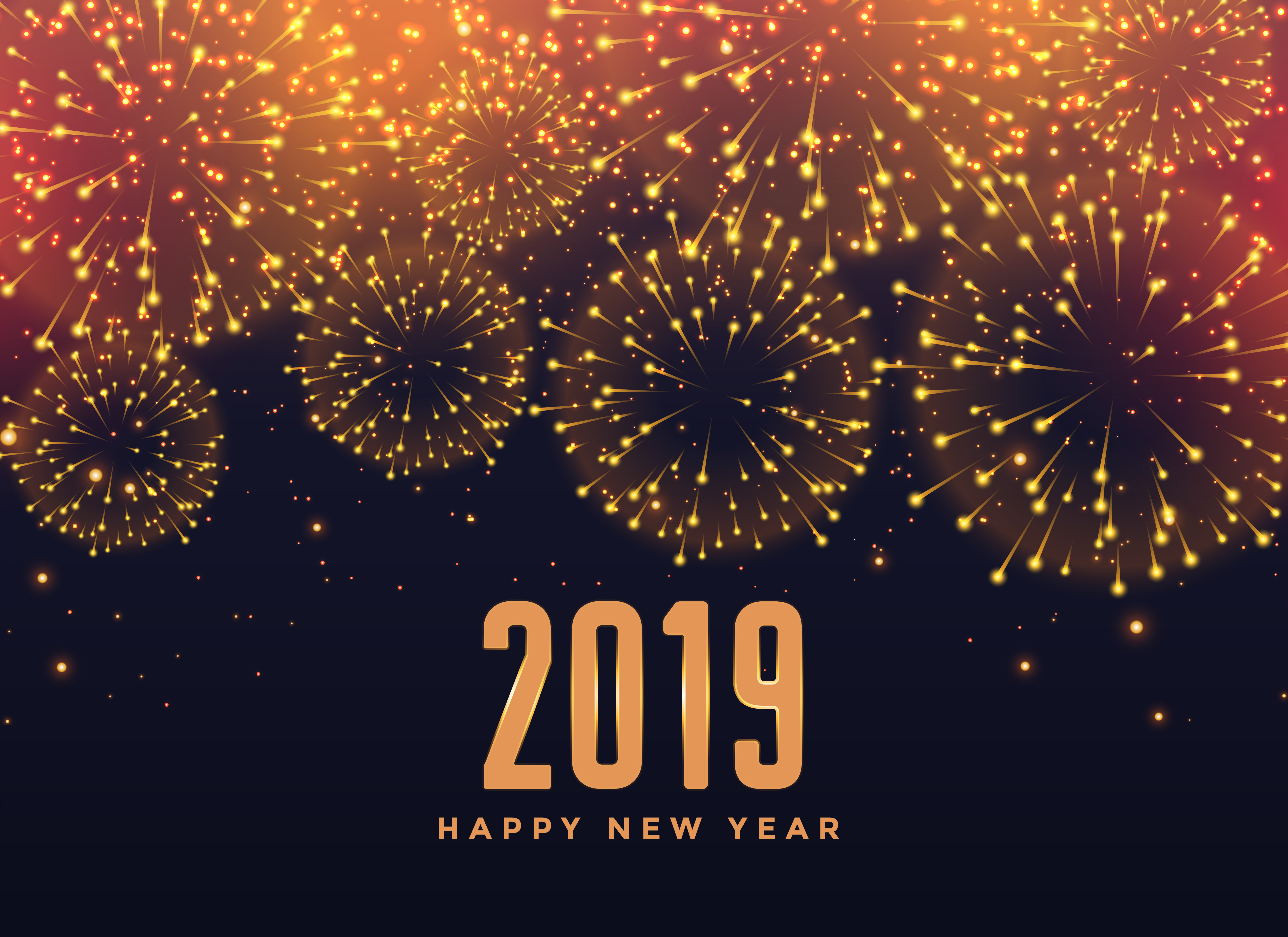 2019 happy new year fireworks background download free vector art stock graphics images
