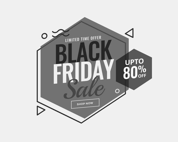 gråskala svart fredag memphis stil försäljning banner design