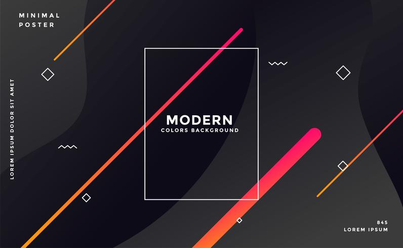 modern mörk memphis stil svart bakgrund