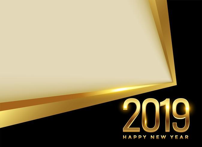 fundo dourado do ano 2019 novo com espaço do texto