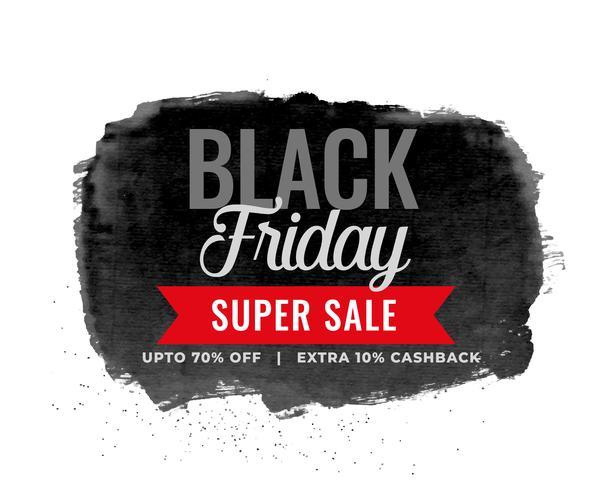 svart fredag försäljning akvarell bakgrundsdesign