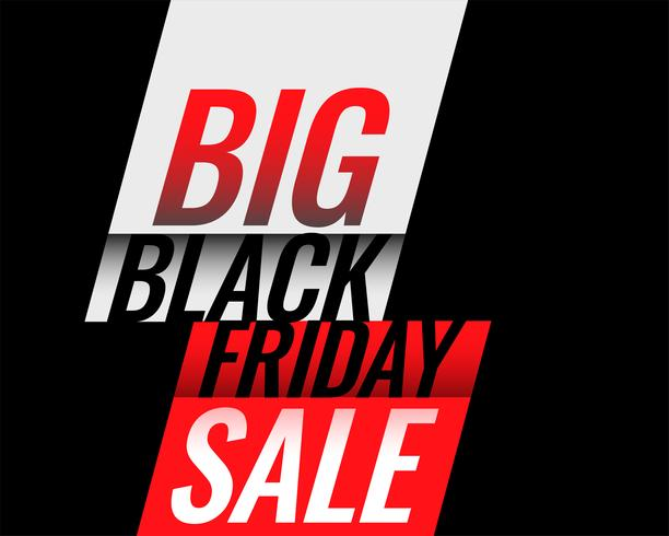 stilvoller schwarzer Freitag-Verkaufsfahnendesign