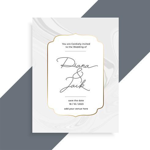 schöne Marmorbeschaffenheitshochzeits-Einladungskartenschablone