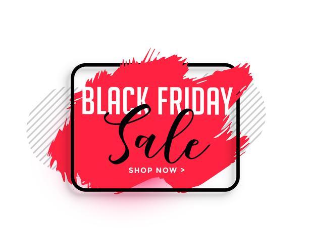 abstrakt röd akvarell svart fredag försäljning banner