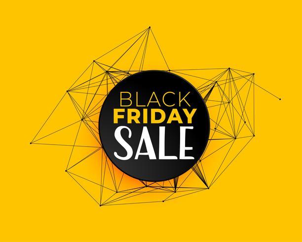 Schwarzer Freitag Verkauf Hintergrund in Technologie-Netzwerk-Linien