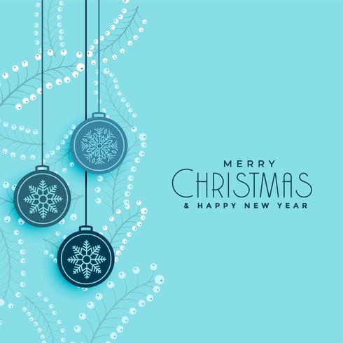 glada julbollar och lämnar dekorationsbakgrund