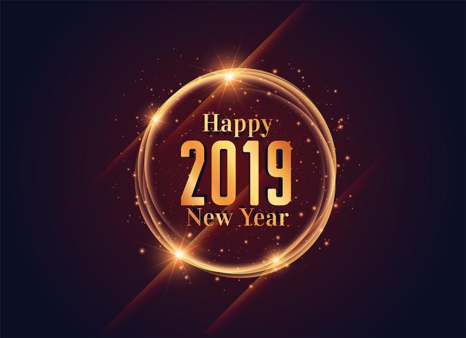 2019 progettazione di sfondo lucido felice anno nuovo