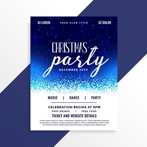 schöne Weihnachtsfeier Feier Flyer Design