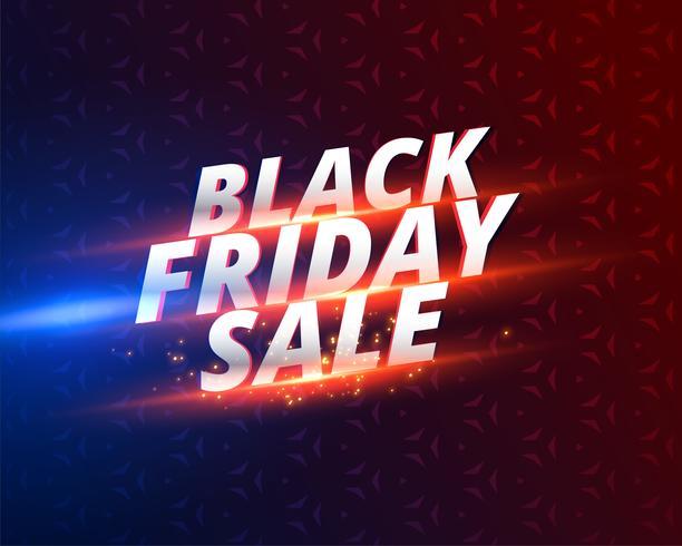 glänsande svart fredag försäljning banner design