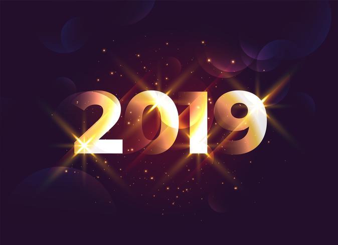 glänzender 2019 kreativer Hintergrund des neuen Jahres