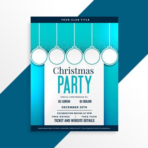 party flyer design för julfestival