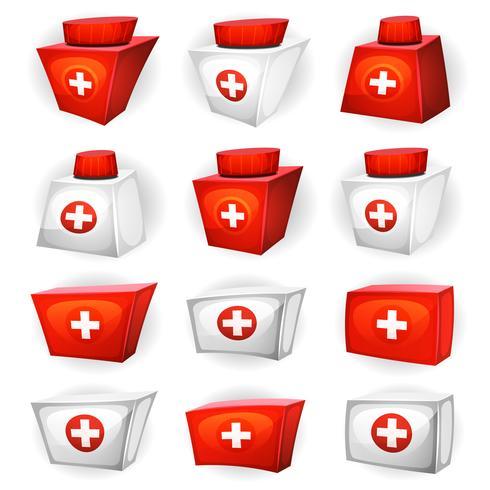 Medizin Box Icons für Ui-Spiel