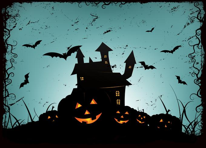 Fond de cadre Halloween vecteur