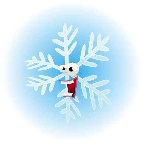 Tecknad Rolig Snowflake Character