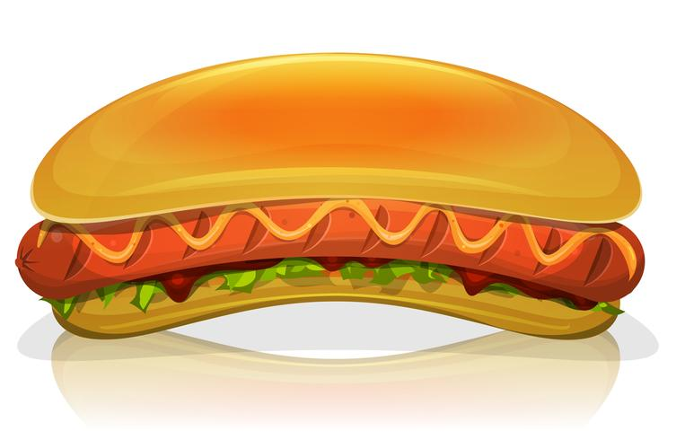 Hot Dog Burger Icon vector