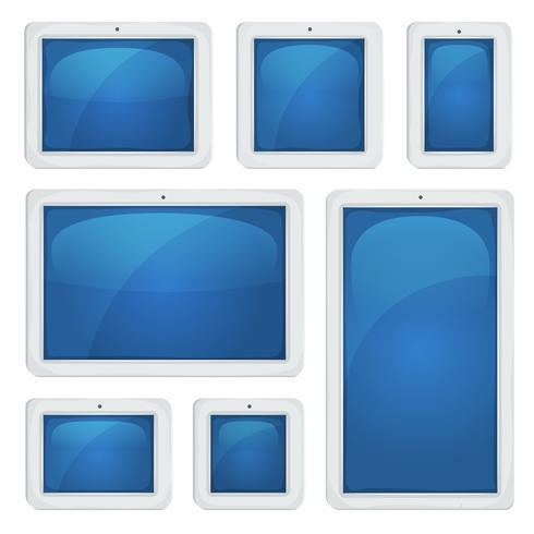 digital tablet pc set vektor