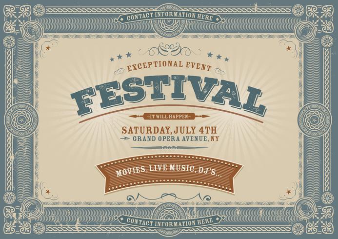 Fond de festival vintage de quatrième de juillet