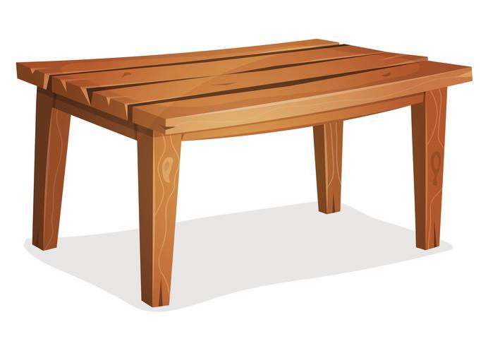 Tavolo in legno dei cartoni animati