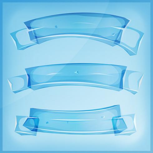 Transparent Glass Or Crystal Banners And Ribbons