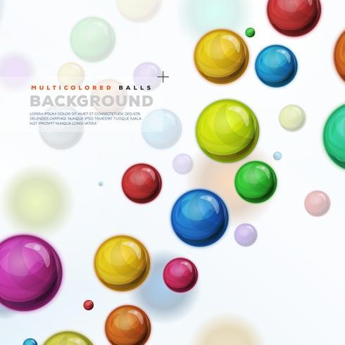Veelkleurige ballen, ballonnen en pillen achtergrond