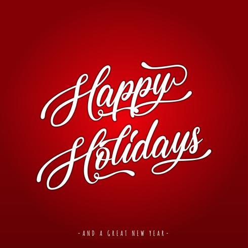 Joyeuses fêtes lettrage carte de voeux