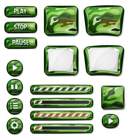 Militaire Camo Icons Elements Pour Ui Game