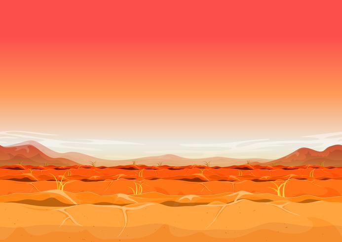 Seamless Desert Far West Landscape per Ui Game vettore