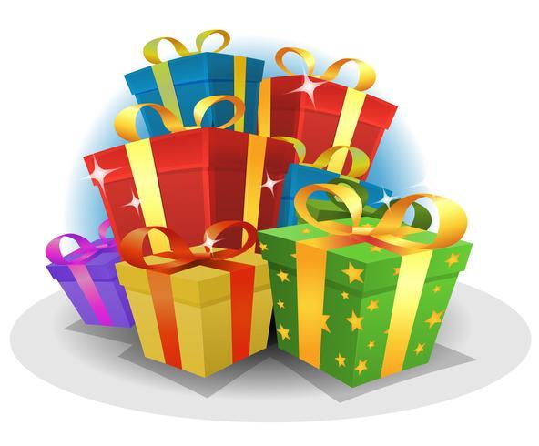 Alles Gute zum Geburtstag Geschenke Pack vektor