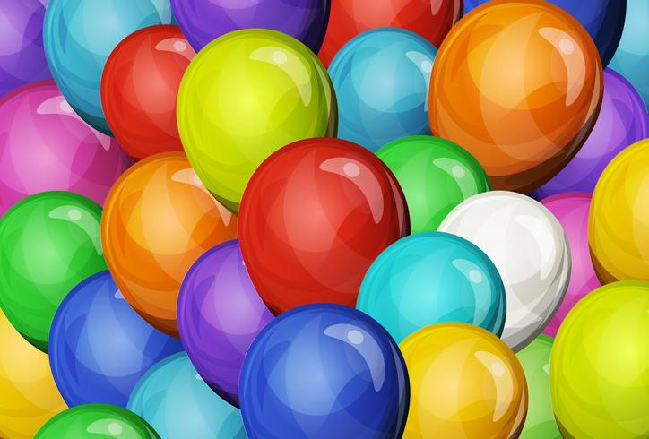 Abstract Party Balloons Background vector