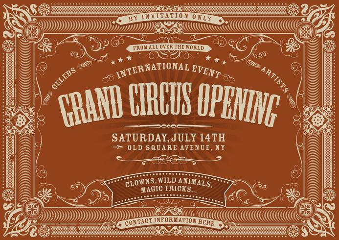 Vintage horizontale circus achtergrond