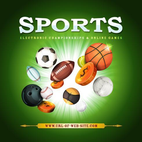 Fondo deportivo vector