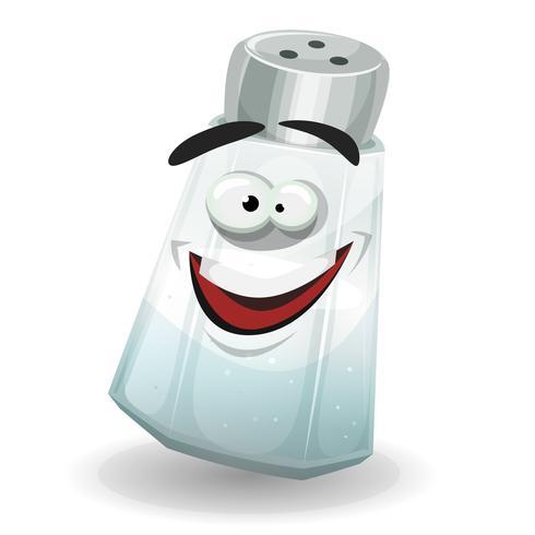 Gelukkig zout Shaker-karakter