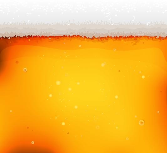 Bier textuur achtergrond met schuim en bubbels vector